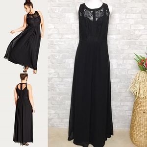 NWOT City Chic | Black Panelled Bodice Maxi DRS 14